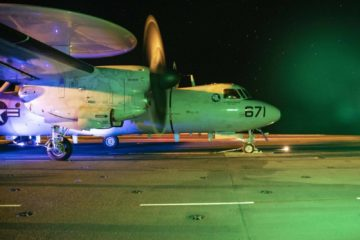 U.S. Navy VAW-117 Carrier Qualifies on 'USS G. R. Ford', Transitions to E-2D Advanced Hawkeye