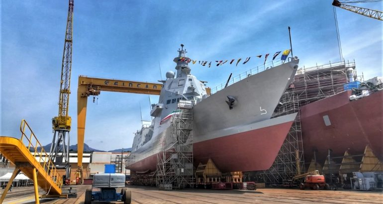 Fincantieri Launched the 2nd PPA 'Francesco Morosini' for the Italian Navy