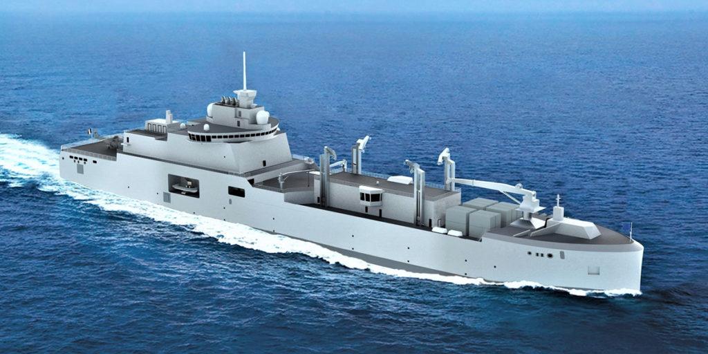 French Navy Replenishment Tanker BRF Logistics Supply Vessel FLOTLOG