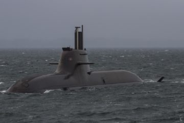 German Type 212A Submarine U33 Back from NATO Patrol Mission