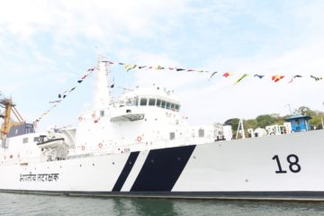 Indian Coast Guard commissioned OPV 'Sachet' and two interceptor boats