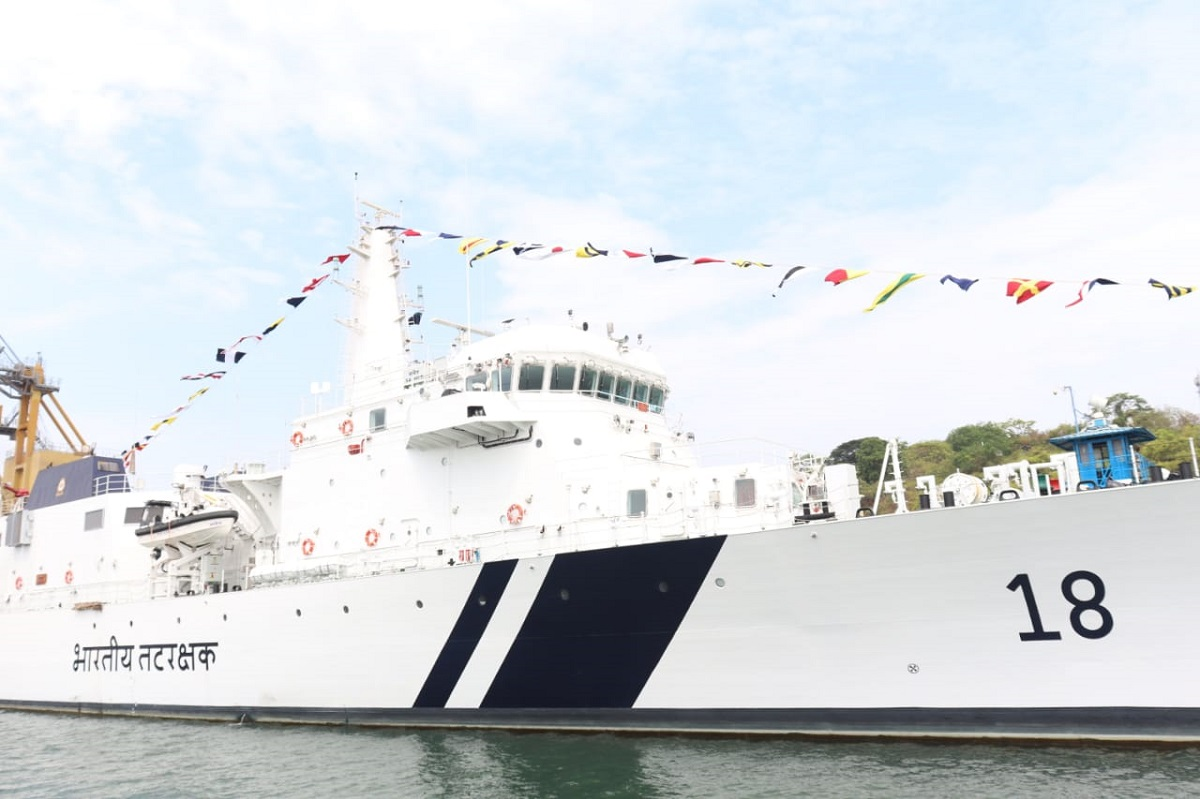 Indian Coast Guard commissioned OPV 'Sachet' and two interceptor ...