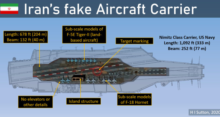 What's Wrong With Iran's Fake Aircraft Carrier