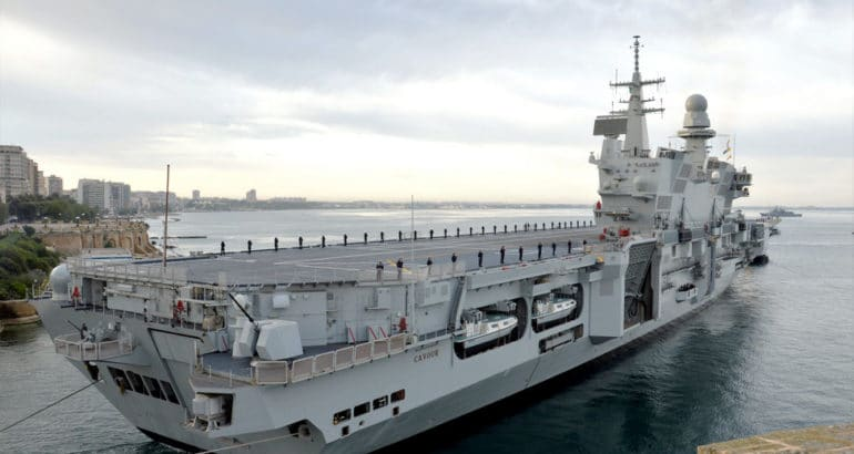 Italian aircraft carrier 'Cavour' Completes 16 Months F-35B Upgrade 2