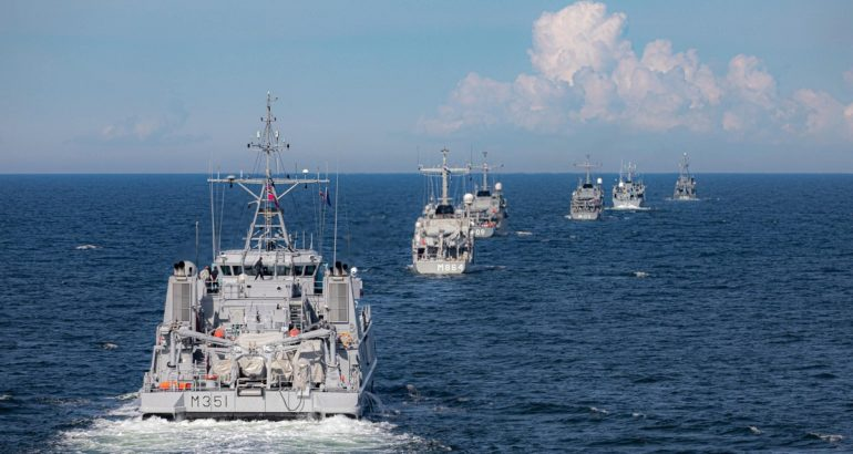 NATO Mine Countermeasures Group 1 taking part to 'Open Spirit' exercise. NATO Maritime Command Picture.