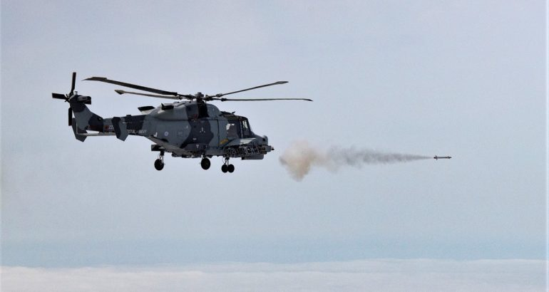Royal Navy's Wildcat Helicopter Test-Fires Martlet LMM For the 1st Time 1
