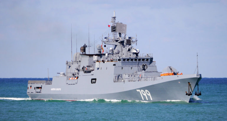 Russia Black Sea Fleet frigate Admiral Makarov Project 11356