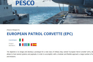 Spain Joins PESCO's European Patrol Corvette – EPC Project