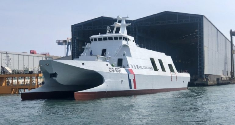 Taiwan Launched a 600 Tons Coast Guard Cataraman That Can Fire 16 ASM
