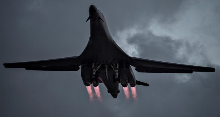 USAF's Recent Long Range Long Endurance Training with B-1B Lancers had a Maritime Component