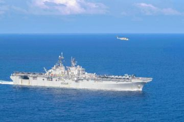 USS America (LHA-6) Sails the South China Sea with Some Teeth