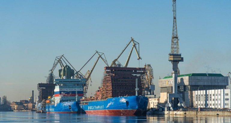 The first three Project 22220 nuclear icebreakers