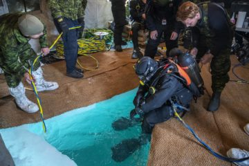 Royal Canadian Navy Divers train in Sub-Zero Waters with Finnish, French & Belgian Counterparts