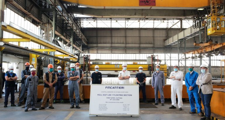 Fincantieri Cuts Steel of French Navy's BRF Forward Section