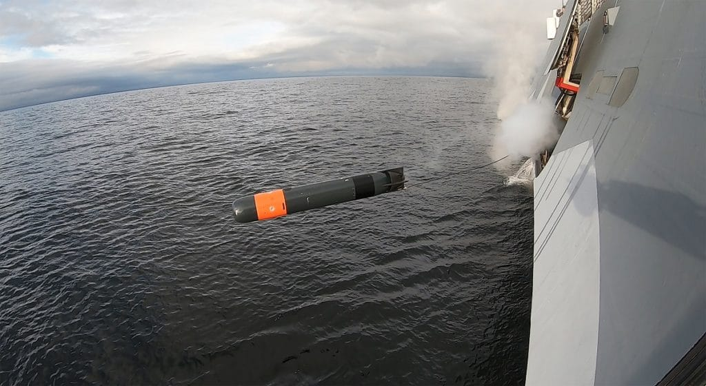 First Surface Ship and Submarine Firings for Saab Lightweight Torpedo Torped 47