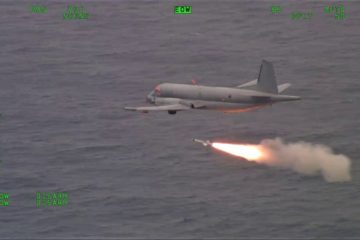 French Navy Upgraded ATL2 MPA Test Fires Exocet AM39 Anti-Ship Missile