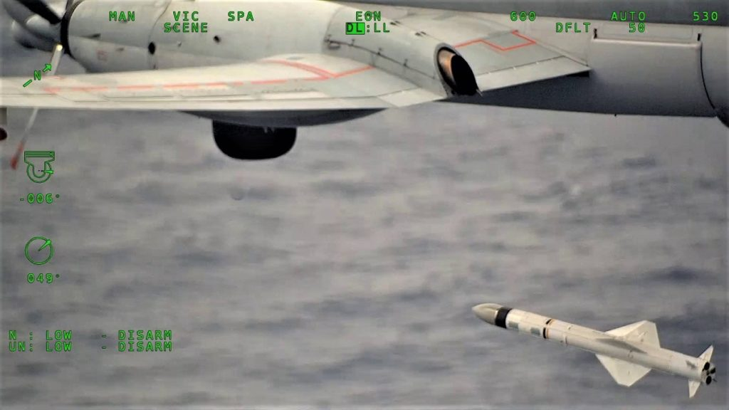 French Navy Upgraded ATL2 MPA Test Fires AM39 Exocet Anti-Ship Missile