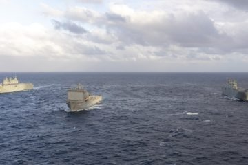 Royal Australian Navy's Entire Amphibious Force Operating Together for the First Time
