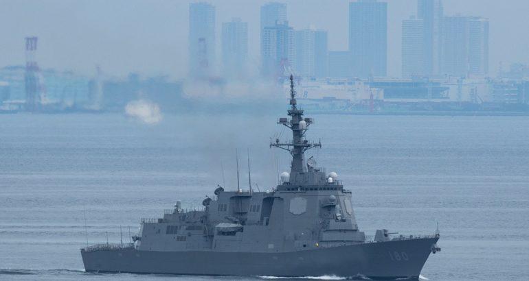 Maya-class destroyer Haguro starting sea trials