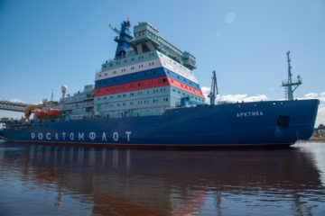 Russia's Nuclear-powered icebreaker Arktika resumes sea trials