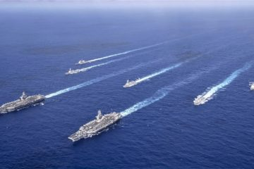 Theodore Roosevelt, Nimitz Carrier Strike Groups Operate Together in Philippine Sea