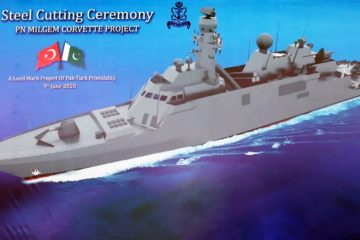 Turkey Lays Keel of Pakistan Navy's First MILGEM-class Corvette