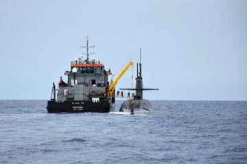 U.S. Navy SSBN USS Maryland Conducts Full at-sea Crew Exchange