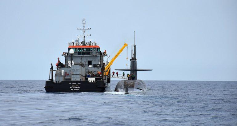 U.S. Navy SSBN USS Maryland conducts full at-sea Crew Exchange 1