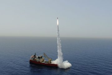 Watch IAI Testing LORA Ballistic Missile at Sea