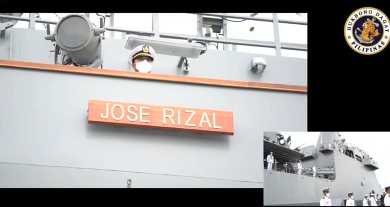 Philippine Navy Commissions its First Ever Missile Frigate BRP Jose Rizal