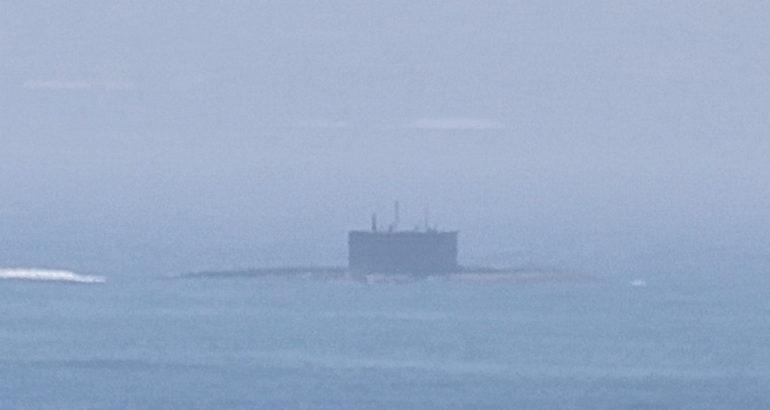 Russian Submarine English Channel