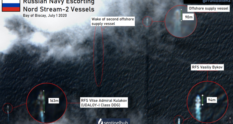 Russian Navy Warships Are Escorting Nord Stream 2 Pipeline Vessels In Bay Of Biscay