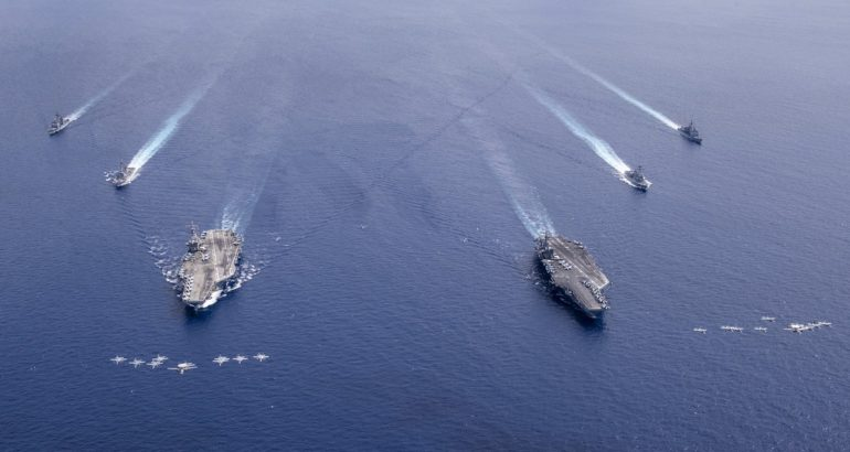US Navy Carrier Strike Force Dual Carrier Op South China Sea