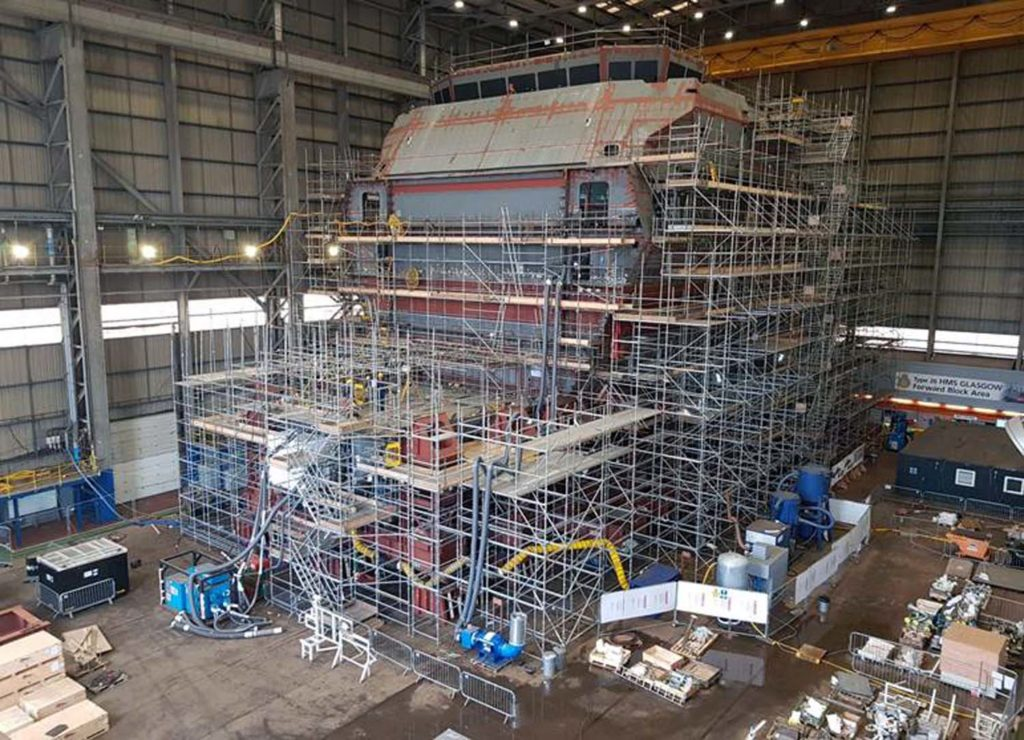 Work Starts on final Section of Royal Navy's First Type 26 frigate HMS Glasgow 1