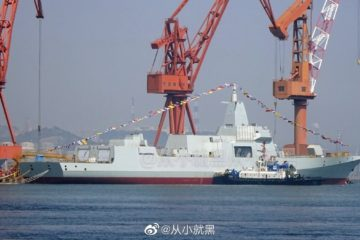 Shipyard in China Launched The 25th Type 052D and 8th Type 055 Destroyers For PLAN