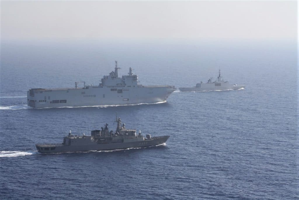 Combined Exercise for the Hellenic and French Navies in Eastern Med