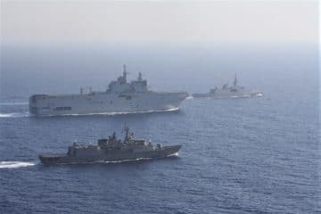Video: Hellenic and French Navies' Combined Exercise in Eastern Med