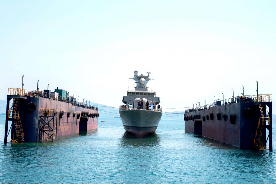 Elefsis Shipyard Launches Hellenic Navy's Final Roussen-Class FACM