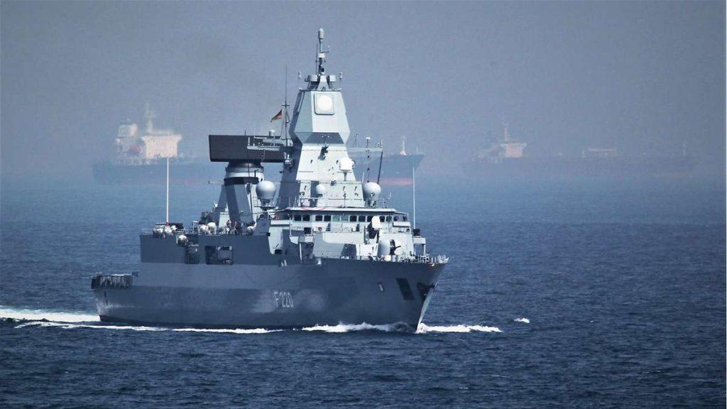 German Navy F124-class Frigate 'Hamburg' Deploys to Join EUNAVFOR Operation Irini