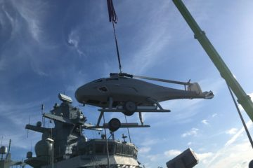 German Navy Starts At-Sea Tests of SKELDAR V-200 VTOL UAV Aboard K130 Corvette
