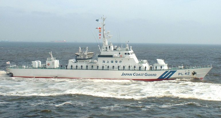 Aso-class patrol vessel Dewa (PL-42) of the Japan Coast Guard