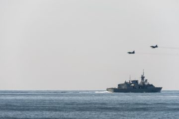 NATO Vessels and Aircraft Conduct Air-Maritime Integration in the Baltic Sea