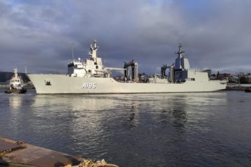 Navantia-built AOR 'Supply' Starts Sea Trials in Spain