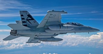 Next-Gen Jammer Mid-Band pod takes first flight on Growler