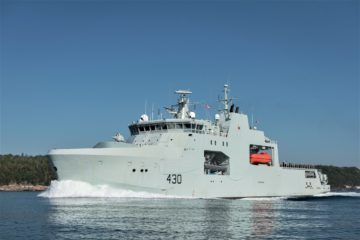 Royal Canadian Navy Accepts Delivery of First Arctic and Offshore Patrol Ship