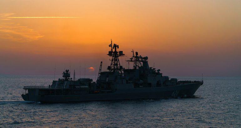 Russian Navy Udaloy-class Destroyer Vice-Admiral Kulakov
