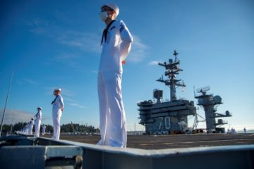 USS Carl Vinson starts sea trials following docking period