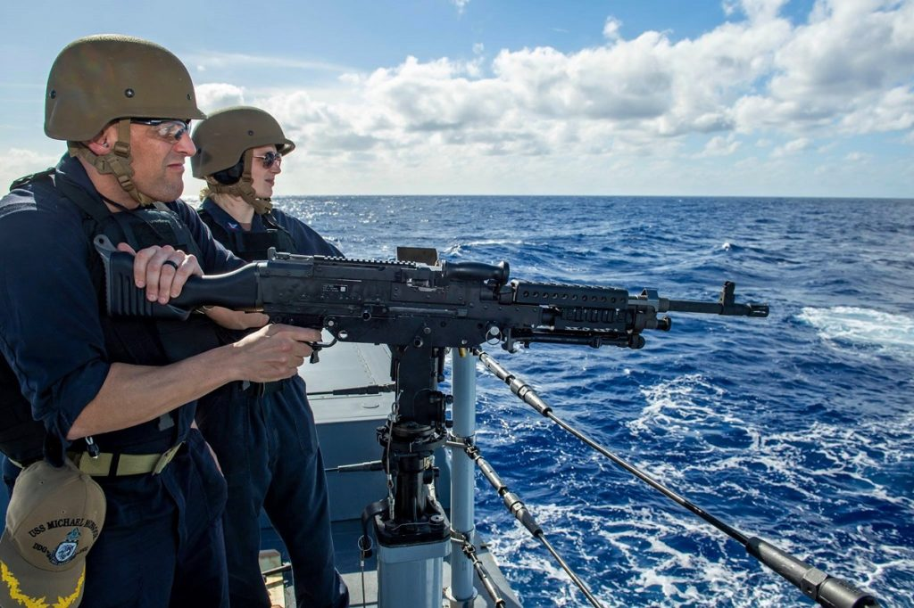 USS Michael Monsoor (DDG 1001) M240 medium machine gun