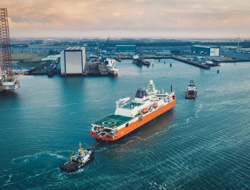 RSV Nuyina arriving in Vlissingen