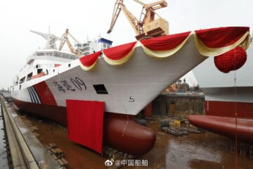 10,000 Tons Patrol Vessel 'Haixun' Launched for China's Maritime Safety Administration